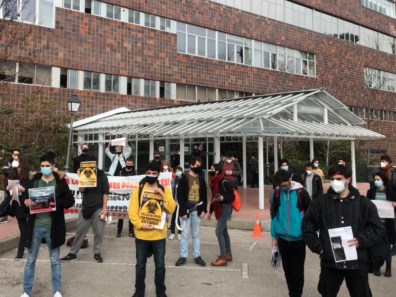 Protestas universitarios UAM rectorado exámenes presenciales